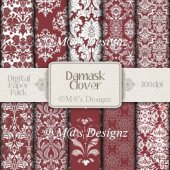 Damask in Clover Paper Pack CU4CU