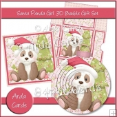 Santa Panda Girl 3D Bauble Gift Set