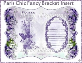 Paris Chic Fancy Bracket Card Insert