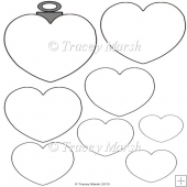 Heart Christmas Bauble Pyramage Template
