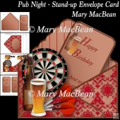 Pub Night - Stand-up Envelope Card