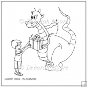 Bradley and Dilbert Dragon with Gift