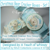Christmas Bear Cracker Boxes - Set 1