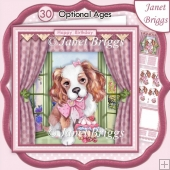PUPPY'S CUPCAKE 8x8 Decoupage & Insert Kit