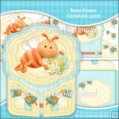 Bees Knees Gatefold Card