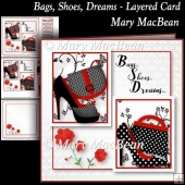 Bags, Shoes, Dreams - Layered Card