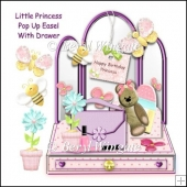 Little Princess Pop up Easel with Drawer
