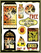 "FREE "" Be Scary "" Collage Sheets for Cards, Crafts"