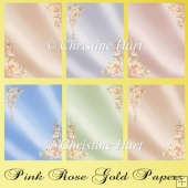 Pink Gold Rose papers