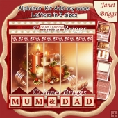 CHRISTMAS CANDLES & BAUBLES 7.5 Quick Card Kit Create Any Name