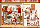 Mrs Christmas Brandy Mouse 4 Sheet Mini Kit