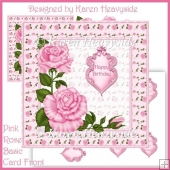 Pink Rose Basic Card Front