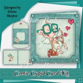 Comic Cupid Valentine Card Kit