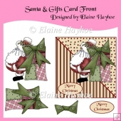 Santa & Gifts Decoupage Card Front