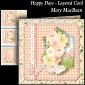 Happy Days - Layered Card