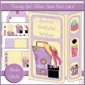 Trendy Girl Offset Gate Fold Card