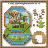 Fishing Bear Octagonal Easel Card Kit