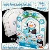 Chilly Penguins Stand Alone Spring Out Card