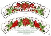 Christmas Holly, Poinsettias & Birds CupCake Wrappers