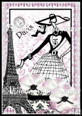 Paris Fashionista Backing Background Paper