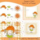 RTP Square Card - Gift of a Flower(Retiring in August)