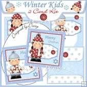Winter Kids - Christmas 2 Card Kit