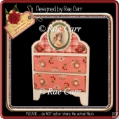 268 Bright Color Dresser Shaped Card