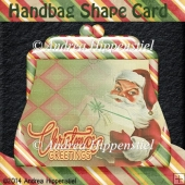 Handbag Shape Card christmas 1