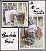Cottage Chic I love Quilts Gatefold Card Set