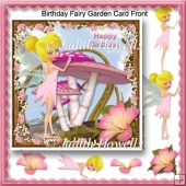 Birthday Fairy Garden Card Front