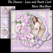 The Dancer - Lace and Pearls Card