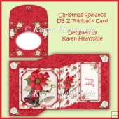 Christmas Romance Double Z| Foldback Card