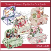 Christmas Rectangle Pop Up Box Card Bundle 1
