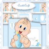 Baby boy shaped card set
