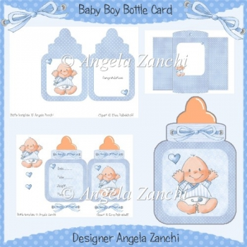 BABY BOY BOTTLE CARD