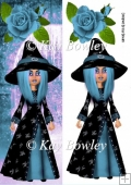 Spider witch with blue hair tall DL
