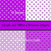 Purple And White Christmas Papers