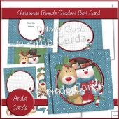 Christmas Friends Shadow Box Card