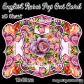 English Roses Pop Out Card & Envelope Set