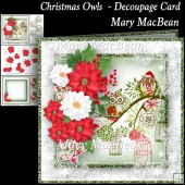 Christmas Owls - Decoupage Card