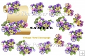 Vintage Floral Decoupage and clipart bundle. Commercial Use
