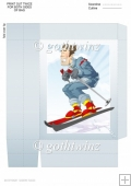 Skier Dude Blue Mini Gift Bag