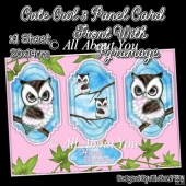 Owl So Cute 3 Panel Card Front