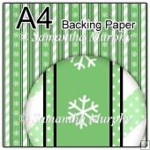 ref1_bp678 - Green Dots & Stripes & Snowflakes
