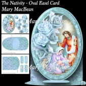 The Nativity - Oval Easel Card