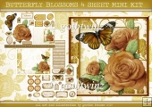 BUTTERFLY BLOSSOMS 4 SHEET MINI KIT Gold