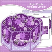 Bright Purple Hexagon Gift Box