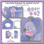 Lilac Dahlia Scalloped Top Gatefold Card Kit