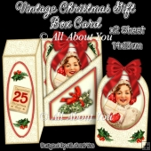 Vintage Christmas Gift Box Card
