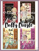 Vintage Dolly Dingle Pedal On Summer Tags/Toppers Set